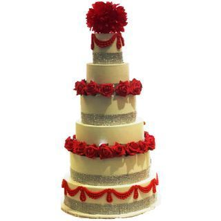 6-Tier-Red-White-Cake
