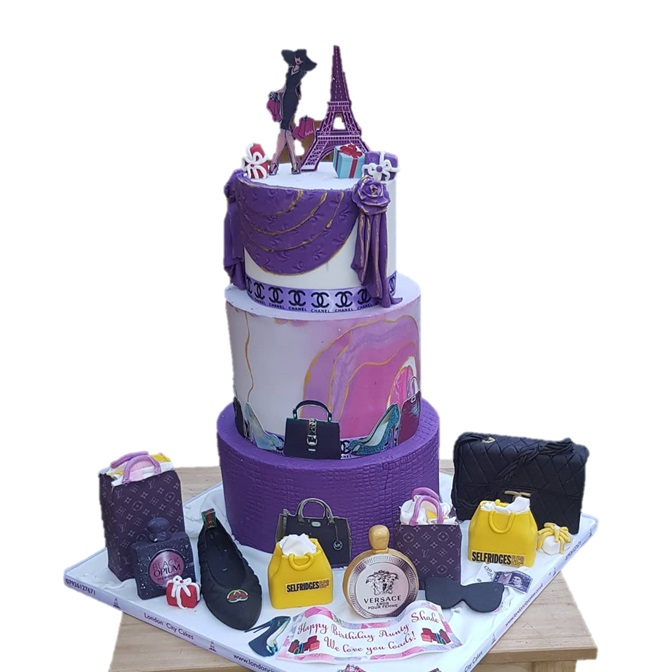 Our Shopaholic Cake